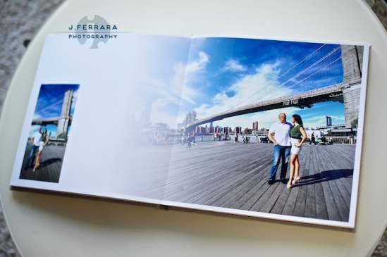 Coney Island photographer, Brooklyn Bridge engagement photographer, NYC engagement photographer, New York engagement photographer, signing book, wedding signing album